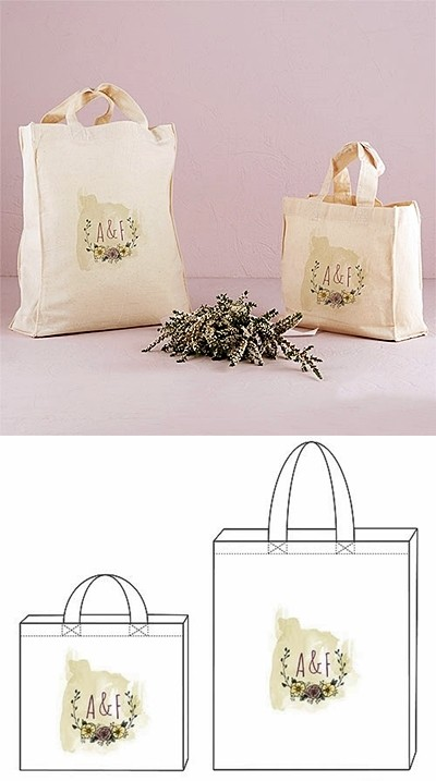 """""""Natural Charm"""" Design Personalized Tote Bag"""