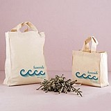 Weddingstar Stylized Waves Design Personalized Tote Bag