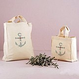 Weddingstar Nautical Anchor Design Personalized Tote Bag
