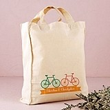 Weddingstar Double Bicycle Design Personalized Tote Bag