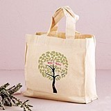 Weddingstar Love Birds Tree Design Personalized Tote Bag