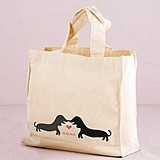 Weddingstar Puppy Love Design Personalized Tote Bag
