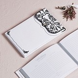 Weddingstar Black & White Love Bird Damask Collection Guest Book