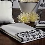 Black & White Love Bird Damask Collection Wedding Accessories Set