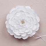 Weddingstar White Sensational Floral Ring Pillow with Pearl Detailing