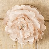 Weddingstar Champagne-Colored Floral Ring Pillow with Pearl Detailing