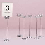 Weddingstar Butterfly Motif Stationery/Table Number Holders (Set of 6)