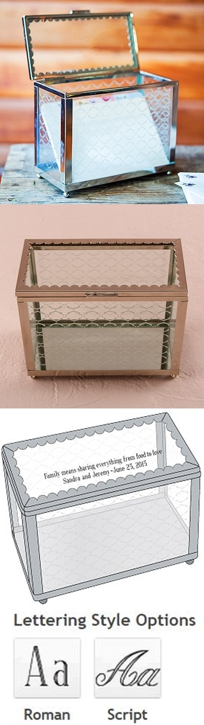 Decorative Glass Box with Mirror Base as a Wishing Well Alternative