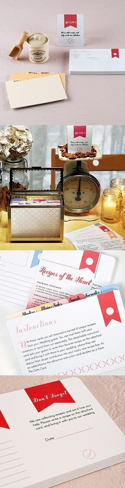 """Recipes of the Heart"" Recipe Cards and Divider Set"