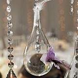 Weddingstar Large Blown-Glass Tear-Drop-Shaped Vases (Set of 2)