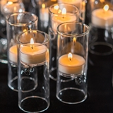 Blown-Glass Decorative Miniature Tealight Luminaries (Set of 4)