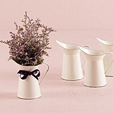 French Provencal Style Mini Decorative Enamel Pitchers (Set of 4)