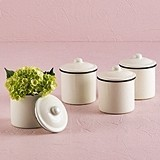 French Provencal Mini Decorative Canisters with Lids (Set of 4)