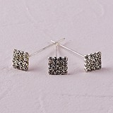 Weddingstar Crystal Square on 6cm Needle Bouquet Jewelry (Set of 3)