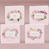 Personalized Bridal Party Notebooks w/ Garden Party Covers (Set of 12)