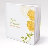 Personalized Zinnia Bloom Motif Book-Style Notepads (Set of 12)