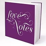 Personalized 'Expressions' Book-Style Notepads (16 Colors) (Set of 12)