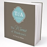 Personalized Classic Crest Motif Book-Style Notepads (Set of 12)