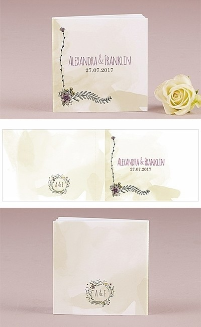 Personalized Natural Charm Book Style Notepads Set Of 12