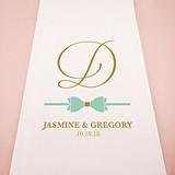 Weddingstar Glitz and Glam Bowtie Motif Personalized Aisle Runner