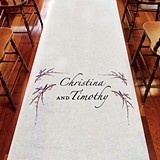Weddingstar Cherry Blossom Motif Personalized Aisle Runner (3 Colors)