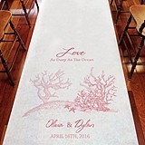 Weddingstar Coral Reef Motif Personalized Aisle Runner (8 Colors)