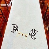 Weddingstar Birds with Love Banner Personalized Aisle Runner