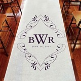 Weddingstar Flourish Monogram Personalized Aisle Runner (8 Colors)