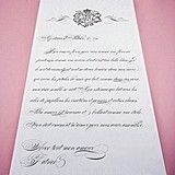 Parisian Love Letter Personalized Aisle Runner (Black or Gold)
