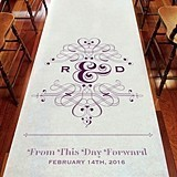 Weddingstar Fanciful Monogram Personalized Aisle Runner
