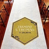 Weddingstar Personalized Black & Gold Opulence Aisle Runner
