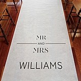 "Weddingstar ""City Style"" Personalized Aisle Runner"
