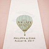 Vintage Travel Hot Air Balloon Design Personalized Aisle Runner