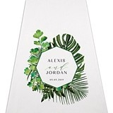 Weddingstar Natural Foliage Greenery Motif Personalized Aisle Runner