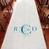Weddingstar Elegant Personalized Aisle Runner with Classic Monogram