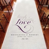 Weddingstar Romantic Laugh Dream Love Personalized Aisle Runner