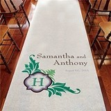 Weddingstar Fantastic Flourish-Design Monogrammed Aisle Runner