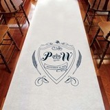 Weddingstar Personalized Aisle Runner with Royal Crest and Crown Motif