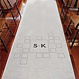 Weddingstar Contemporary Personalized Aisle Runner with Squares Motif