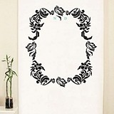 Love Bird Damask Monogram Personalized Photo Backdrop (18 Colors)