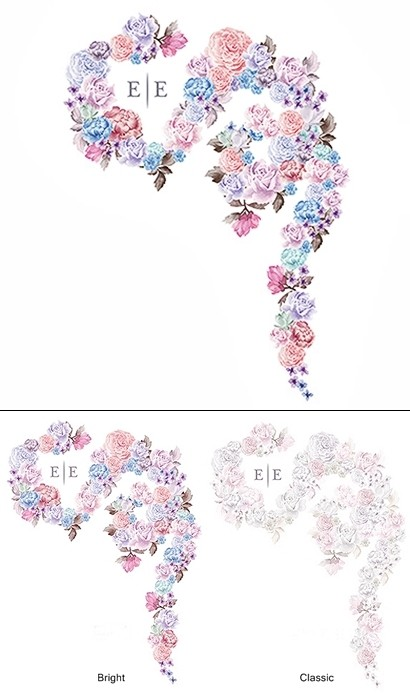 """Floral Dreams"" Motif Personalized Backdrop (2 Colors)"