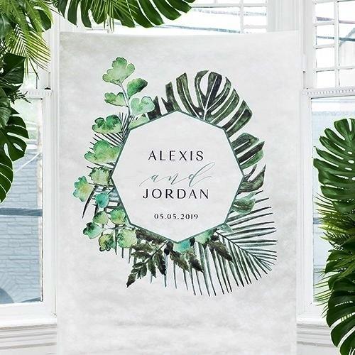 Weddingstar Natural Foliage Greenery Motif Personalized Photo Backdrop