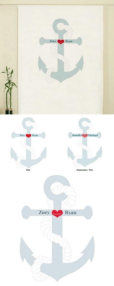 Weddingstar Nautical Anchor Design Personalized Photo Backdrop