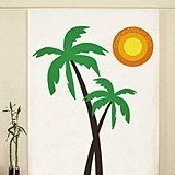 Weddingstar Palm Trees & Sun Banner Personalized Photo Backdrop
