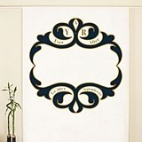 Ornate Monogram Design Personalized Photo Backdrop (4 Colors)