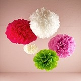 Celebration Peonies Tissue Paper Flowers (5 Colors) (3 Sizes)