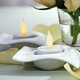 Weddingstar Flameless Battery-Operated LED Tealights (Package of 6)