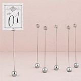 Classic Silver-Plated Stationery/Table Number Holders (Set of 6)