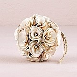Weddingstar Small Floral Kissing Ball Made with Wood Curls (8 Colors)