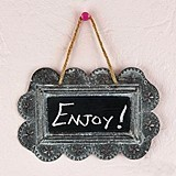 Weddingstar Small Scalloped-Edge Tin Sign/Frame with Chalkboard